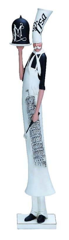 French Slim Chef White Apron Hat Statue Eiffel Tower Accent D | Furniture, home decor, wall decor, rugs, lamps, lighting outlet.
