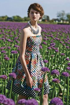 I want this dress so bad! No luck out of stock. Lavendel Dress - anthropologie.com