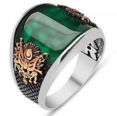 Cool Rings For Men, Rings Cool, Men Rings, Unique Rings, Simple Rings, Stone Rings For Men, Sterling Silver Mens Rings, Handmade Sterling Silver, Agate Ring