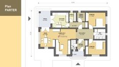4 Bedroom House Plans, Home Projects, Floor Plans, House Design, How To Plan, House Styles, Small Houses, Top, Houses