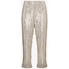 Ganni Temple Sequin Trousers (3.795 DKK) ❤ liked on Polyvore featuring pants, sequined pants, sequin embellished pants, ganni and sequin trousers