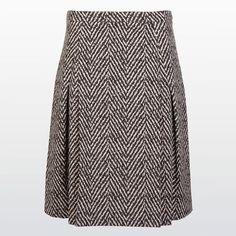 Plooirok in tweekleurige jacquard #Skirt #Jacquard #Cotton #FallCollection #XandresAW16 #NewArrivals #AW16 #Xandres