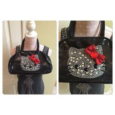 """Hello Kitty Bag Used once as a trick-or-treat bag. Good condition, no signs of wear and tear. 13"""" strap to bottom x 13"""" W. Hello Kitty Bags Mini Bags"""