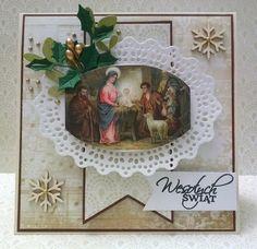 Kartka Bożonarodzeniowa - Józef, Maryja i Jezus...