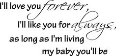 I'll love you forever wall art wall sayings by EpicDesignsDecor
