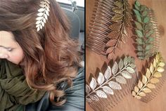 Large Leaf Hair Combs by angelia Beauty Makeup, Hair Makeup, Hair Beauty, Elegant Updo, Bright Spring, Hair Combs, Pretty Hairstyles, Beautiful Outfits, Your Hair