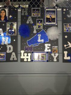 How to Make High School Graduation Party Decor Ideas Senior Night Cheer Poster I designed Cheerleading Signs, Senior Cheerleader, Cheer Team Gifts, Cheer Mom, Softball Gifts, Cheer Coaches, Cheer Party, Basketball Gifts, Senior Night Gifts