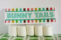 bunny tails, possibly use the mini marshmellows for younger kids