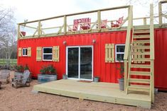 Shipping Container Tiny House - Rustic Retreat XL by Backcountry Containers A shipping container tiny house built by Backcountry Containers, located outside Houston, Texas. The home was featured on Tiny House, Big Living!