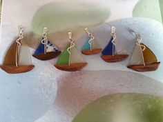 sea glass sailboats