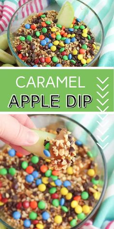 This delicious fall-inspired Caramel Apple Dip will be a family favorite. Perfect as a dessert or a sweet snack with apples and pretzels. Caramel Dip, Caramel Apples, Apple Dip, Family Fresh Meals, Unique Desserts, Recipe Sites, Crockpot Recipes, Easy Recipes, Mini Chocolate Chips
