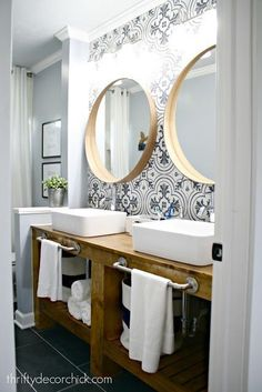 The bathroom renovation is done! (And amazing!) #Bathroomrenovations