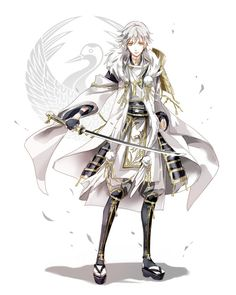 Handsome Anime Guys, Handsome Boys, Story Characters, Anime Characters, Happy Tree Friends, Espada Anime, Katana, Character Art, Character Design