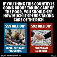 The Rich Tax Dodging Moochers have you believing the poor and immigrants are the problem...