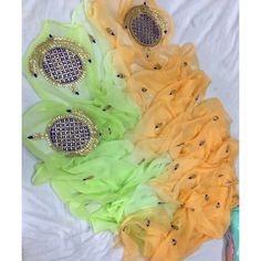 Rajputi Pure Chiffon Saree,Orange And Green Chiffon Gota Work Saree,shop now the best jaipuri gota patti sarees, Birthday Tutu Dresses and Silk sarees. Organza Saree, Chiffon Saree, Chiffon Dress, Pure Georgette Sarees, Pure Silk Sarees, Saree Wedding, Wedding Wear, Gota Patti Saree, Block Print Saree