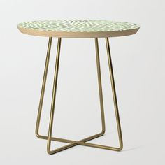 Watercolor Brush Strokes - Pink Side Table by Angela Minca - Gold - Round Painted Side Tables, White Side Tables, End Tables, Pastel Decor, Matthieu Bourel, All Pop, The Rocky Horror Picture Show, Round Table Top, New Shape
