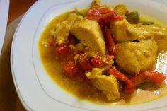 Μπουκίτσες κοτόπουλο με πιπεριές !!! Φτιάξτε το !!! Thai Red Curry, Pasta, Meat, Ethnic Recipes, Food, Bakken, Essen, Meals, Yemek