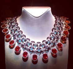 """Van Cleef & Arpels fire Opal and Diamond necklace from the high Jewellery collection """"Peau d'Âne"""""""