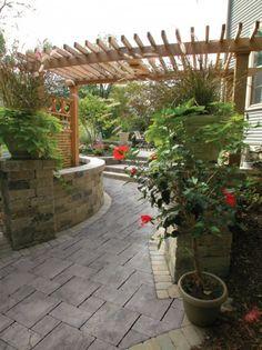 patio and walkway by unilock with thornbury paver - Unilock Patio Designs