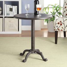 Reece Industrial Pedestal Accent Table - Overstock Shopping - Great Deals on Coffee, Sofa & End Tables
