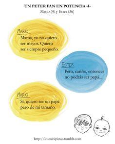 #losminipinos #esterytelling #niños #frases #cosasdeniños #quotes #madre #peterpan
