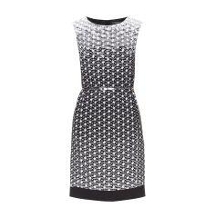 ESPRIT COLLECTION Kleid mit All-Over-Muster in Schwarz   FASHION ID Online Shop