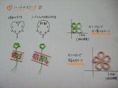 タティングレース ハートのモチーフ編み図の画像 | 野乃のきまぐれHANDMADE生活♪