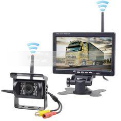 83.44$  Watch now - Wireless Transmission HD 800 x 480 7inch Car Monitor IR CCD Rear View Backup Camera for Car Bus Truck Caravan Trailer RV  #aliexpress