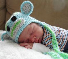 Sock Monkey Hat Baby Crochet Infant Photo Prop by NancyBags4U. Newborn photo, etsy