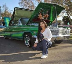 Trendy custom cars for girls Chevrolet Impala, Chevrolet Chevelle, Chica Chola, Estilo Cholo, Arte Lowrider, Santa Monica, Chola Girl, Chicano Love, Cholo Style