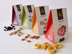 Packaging design for 'Vegabond' nuts and all natural snacks by Molnár Tamás
