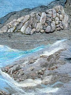 Landscape, by Andrea Graham. New England felting Supply- Great felting resource.