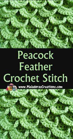 Meladora's Creations – Peacock Feather Crochet Stitch Tutorial