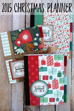 2015 Christmas Planner. Made from an inexpensive composition notebook. Includes instructions and free printables!