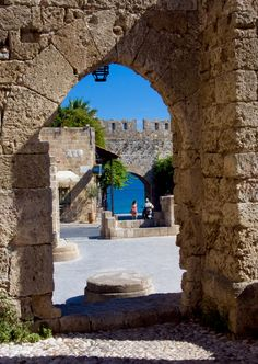 Rhodes, Greece Greece Rhodes, Vacation Places, 30 Years, Arches, Exotic, Husband, Mansions, House Styles, Photography