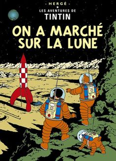 Tintin On A Marche Sur La Lune Trip to the moon 22 by 28 inch | Etsy
