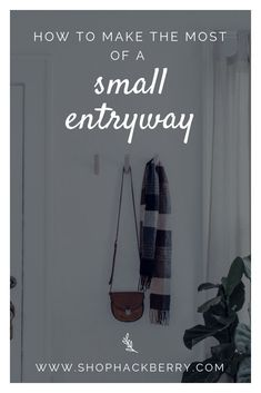How to Make the Most of a Small Entryway: With a little creativity, and the right products, you can make your small entryway a simple, functional, and beautiful space. Entryway Storage, Entryway Organization, Entryway Decor, Modern Entryway, Modern Decor, Minimalist Home Decor, Decorating Small Spaces, Beautiful Space, Simple House