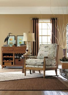The Jenny Chair by La-Z-Boy - birdsong seamist fabric....see it at LaZBoy store Beavercreek, OH