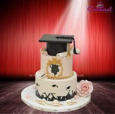 Graduation Cake by Caramel Graduation Cake by Caramel Doha Graduati. Graduation Cake by Caramel Graduation Cake by Caramel Doha Graduation Cake by Caramel Doha… Graduation Cake Designs, Graduation Cupcakes, Graduation Party Decor, Pretty Cakes, Beautiful Cakes, Pharmacy Cake, Naked Cake, Creative Desserts, Girl Cakes