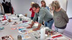 Aquarellkurse im zweiten Halbjahr 2017 mit Frank Koebsch   Wir malen mit Frank Koebsch Weihnachtskerzen auf verschidenen Aquarellpapier (c) Bernd Sturzrehm (2)