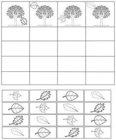 Fiche en kit : arbres et feuilles d'automne - Maitresse Myriam Kindergarten Math Worksheets, Worksheets For Kids, Kids Learning Activities, Autumn Activities, Montessori Math, French Classroom, Fall Preschool, Autumn Crafts, School Decorations