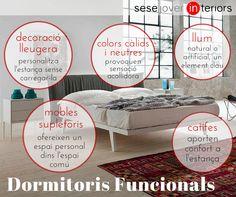 Dormitoris funcionals: com escollir els elements imprescindibles en la decoració del nostre dormitori de matrimoni. Consells de decoració i interiorisme de @sesejover #decoracio #habitacio #decoracion