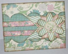 spring card using Authentique and Kiwi Lane Designs