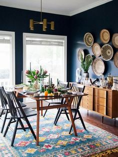 Dining Chair Roundup Home decor Dining room blue, Dining room dining room decor ideas modern - Dining Room Decor Dining Room Sets, Dining Room Blue, Dining Room Walls, Dining Room Design, Dining Room Furniture, Living Room Decor, Dining Chairs, Dining Decor, Furniture Ideas