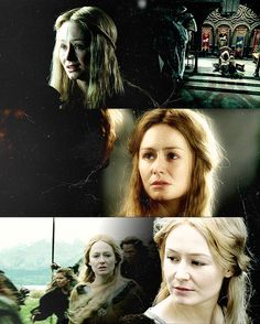 And Eowyn looked at Faramir long and steadily; and Faramir said: '... I do not offer you pity. For you are a lady high and valiant and have yourself won renown that shall not be forgotten; and you are a lady beautiful, I deem, beyond even the words of the elven-tongue to tell. And I love you. Once I pitied your sorrow. But now, were you sorrowless, without fear or any lack, were you the blissful Queen of Gondor, still I would love you. Eowyn, do you love me?'