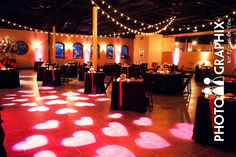 GOBO really adds to the mood of your venue Source: http://rentmywedding.com/Rent-Gobos.html