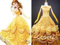 Beauty And Beast - Princess Belle Dress, Belle Costume Cosplay Wig – Page 2 – Coserz Girls Belle Dress, Princess Belle Dress, Disney Princess Dresses, Disney Dresses, Disney Outfits, Disney Princesses, Fancy Costumes, Halloween Costumes, Quinceanera Dresses