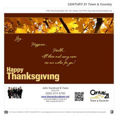 From our family to yours... May you have a joyful and safe Thanksgiving.  http://juliosandoval.c21-email.com/media/id/1423838/