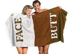 Butt Face Towel - kind of genius, actually