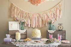 Shabby Chic Girl Vintage 1st Birthday Party Planning Ideas by jachehrs